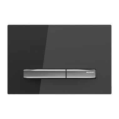Geberit Glass Sigma50 Dual Flush Plate - Black Smoked Glass